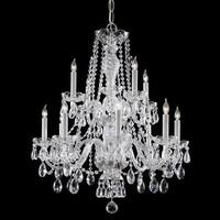 Crystorama Traditional Crystal Collection 12-light Chrome Chandelier
