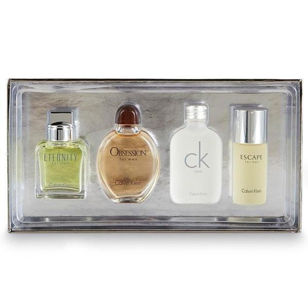 Calvin Klein Variety Men S 4 Piece Mini Gift Set Free