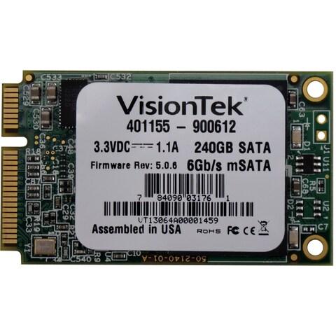 VisionTek 240 GB Internal Solid State Drive - mini-SATA - Plug-in Mod