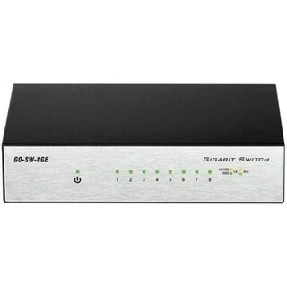 D-Link GO-SW-8GE 8-Port Gigabit Unmanaged Metal Desktop Switch