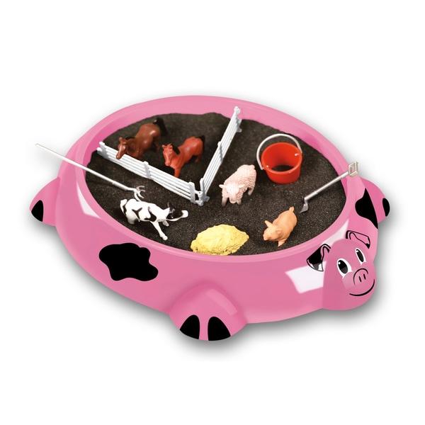 Shop Piggy Farm Sandbox Critters Play Set Overstock