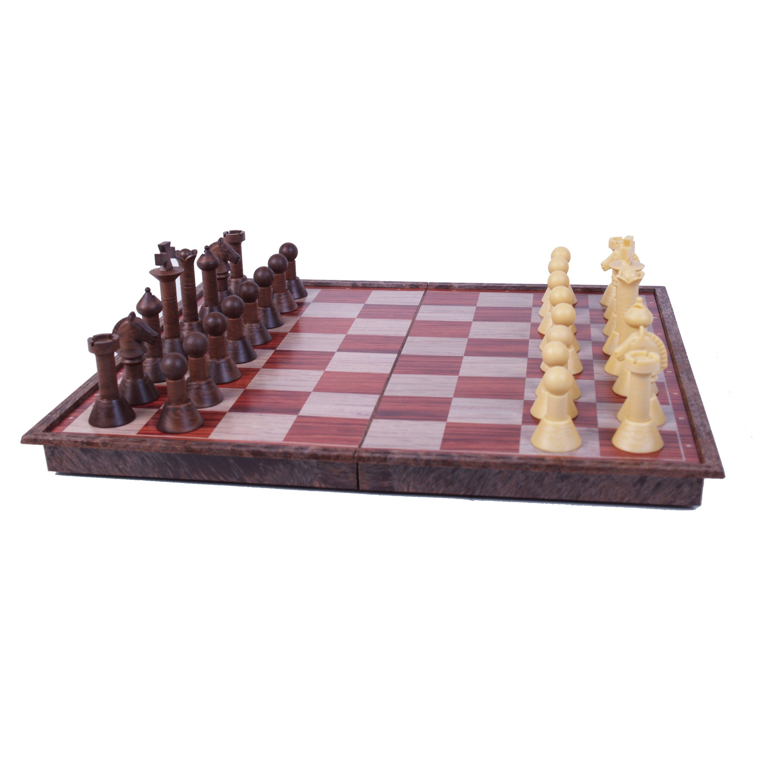 John Hansen Wood Magnetic Chess Set