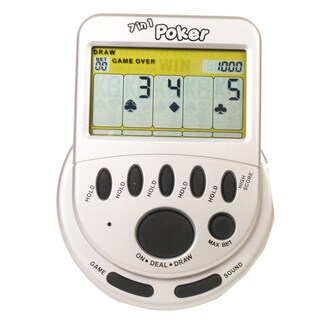 Classic Mega Screen 7 in 1 Poker Handheld Game