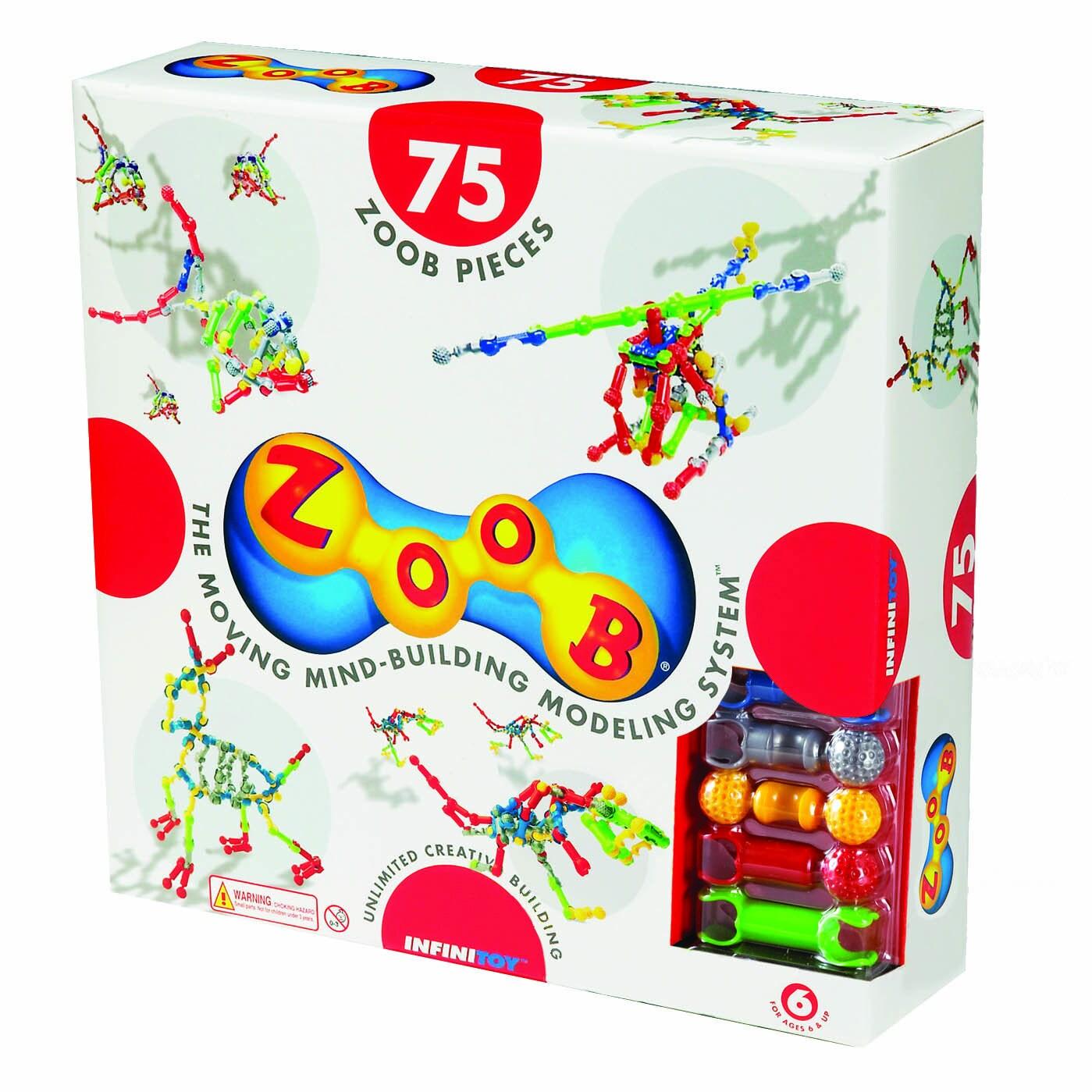 ZOOB 75-Piece Building Set (Zoob Building Set - 75 Pcs), Red