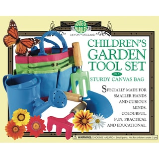 Children's Garden Tool Set in a Sturdy Canvas Bag