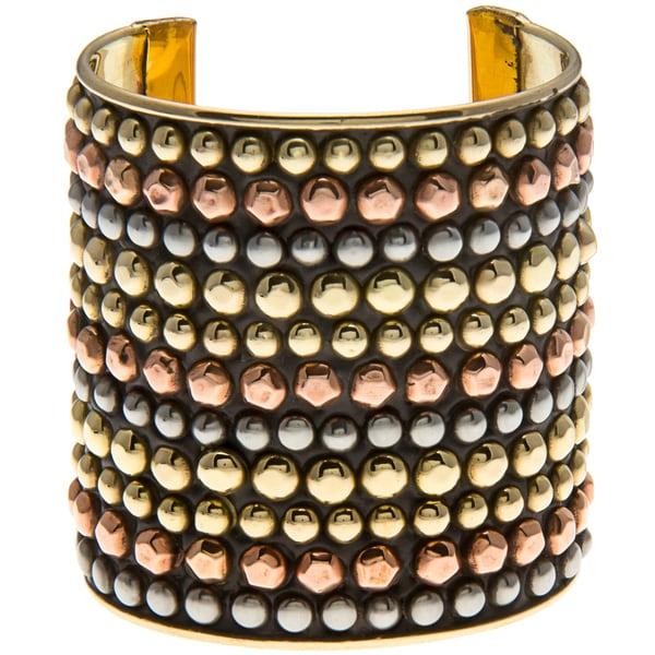 Multicolored Goldtone Cuff Bracelet (India)