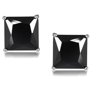 Journee Collection Sterling Silver Cubic Zirconia Square 7 mm Stud Earrings