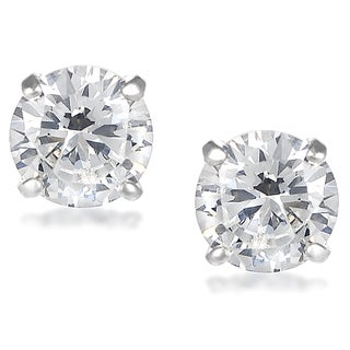 Journee Collection Sterling Silver Cubic Zirconia Round 7 mm Stud Earrings