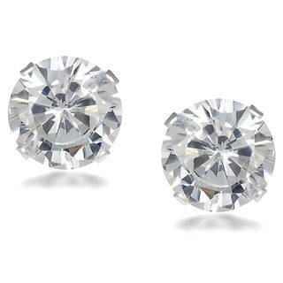 Journee Collection Sterling Silver Cubic Zirconia Round 9 mm Stud Earrings