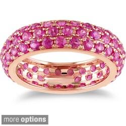 Miadora 14k White Gold Pave Gemstone Ring
