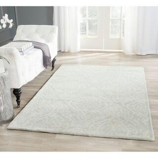 Safavieh Handmade Bella Silver Wool and Viscose Rug (5'x 8')