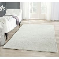 Safavieh Handmade Bella Silver Wool and Viscose Rug - 5' x 8'