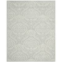 Safavieh Handmade Bella Silver Wool and Viscose Rug - 8' x 10'