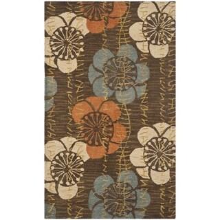 Safavieh Handmade Blossom Brown Wool Rug (2'6 x 4')