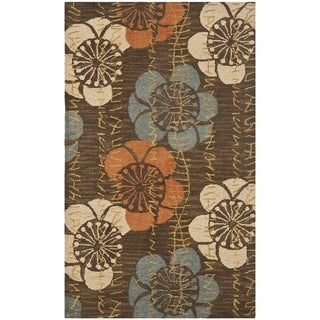 Safavieh Handmade Blossom Brown Wool Rug (3' x 5')