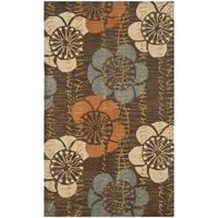 Safavieh Handmade Blossom Brown Wool Rug - 3' x 5'