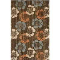 Safavieh Handmade Blossom Brown Wool Rug - 4' x 6'