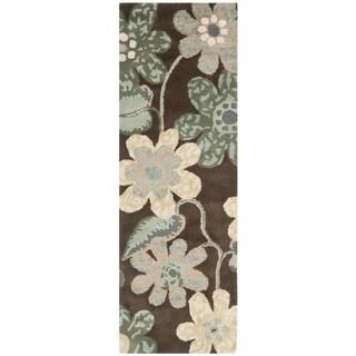 Safavieh Handmade Bella Brown Wool and Viscose Rug (2'3 x 7')