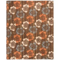Safavieh Handmade Blossom Brown Wool Rug - 8' x 10'