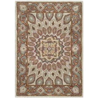 Safavieh Handmade Heritage Timeless Traditional Blue/ Grey Wool Rug (3' x 5')