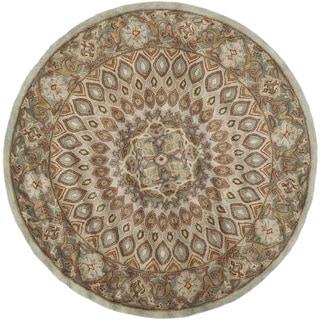Safavieh Handmade Heritage Timeless Traditional Blue/ Grey Wool Rug (6' 6 Round)