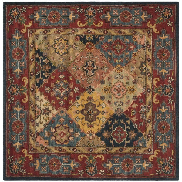Safavieh Handmade Heritage Timeless Traditional Red Wool Rug - 10' x 10' Square