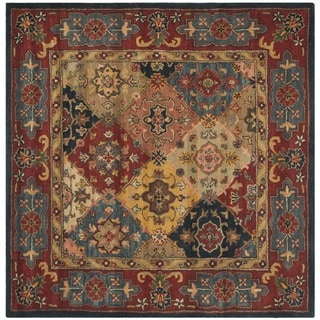 High Quality Safavieh Handmade Heritage Timeless Traditional Red Wool Rug (10u0027 Square)