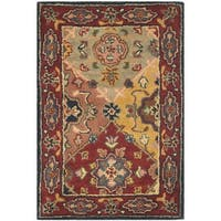 "Safavieh Handmade Heritage Timeless Traditional Red Wool Rug - 2'3"" x 4'"