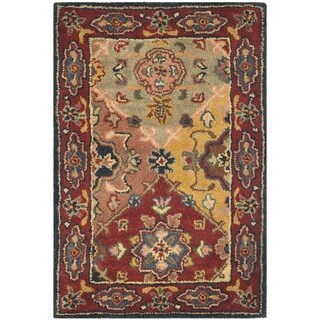 Safavieh Handmade Heritage Timeless Traditional Red Wool Rug - 2'3 x 4'