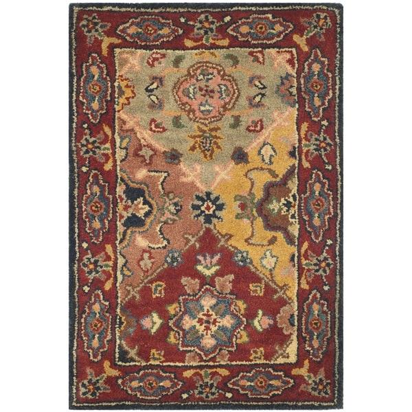 "Safavieh Handmade Heritage Timeless Traditional Red Wool Rug - 2'3"" x 4'"