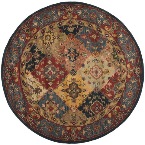 "Safavieh Handmade Heritage Timeless Traditional Red Wool Rug - 3'6"" x 3'6"" Round"