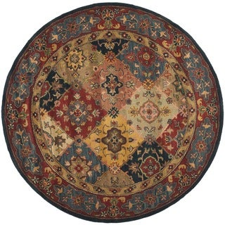 Safavieh Handmade Heritage Timeless Traditional Red Wool Rug (3'6 Round)