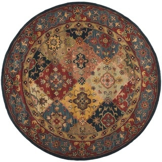Safavieh Handmade Heritage Timeless Traditional Red Wool Rug (6u0027 Round)
