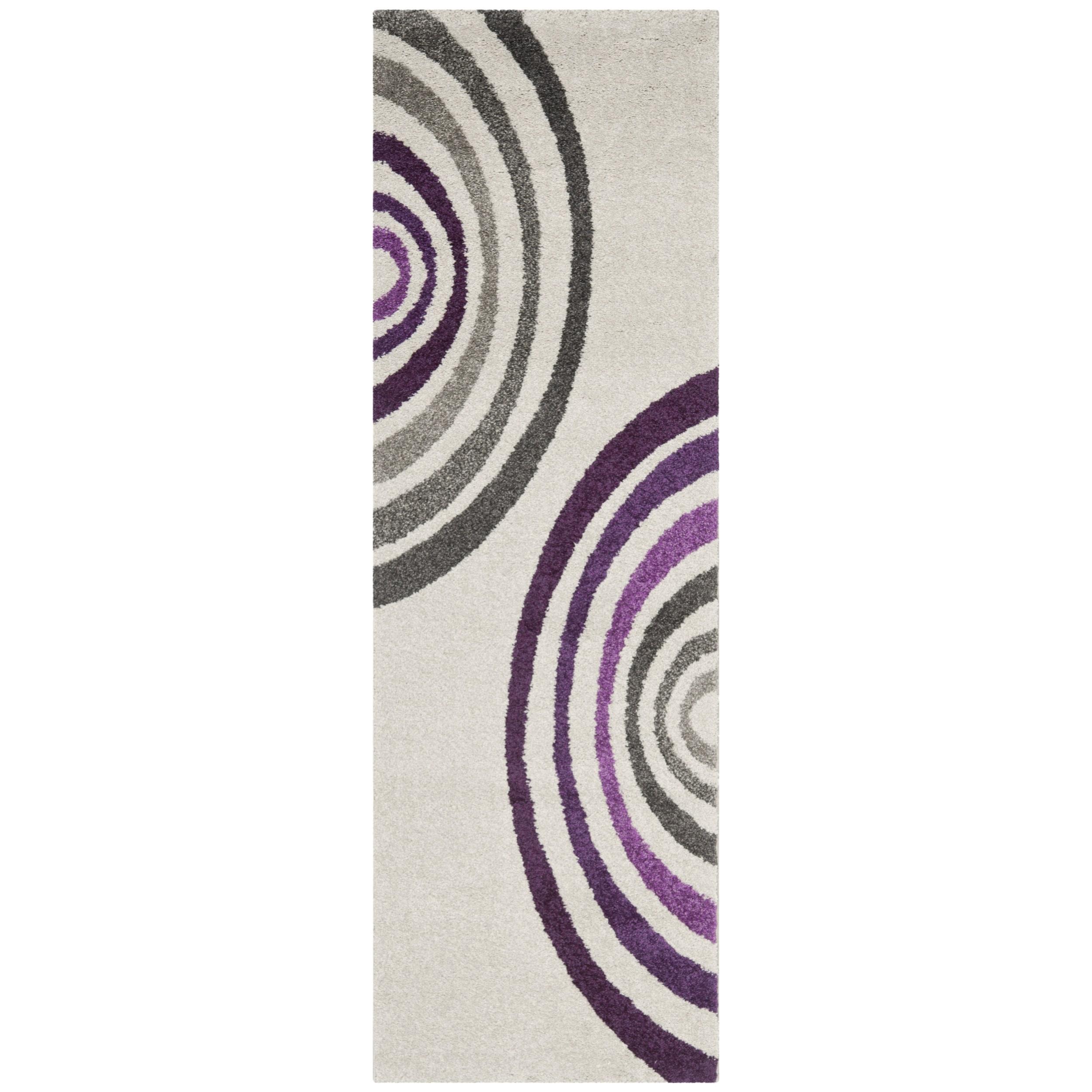 Safavieh Porcello Contemporary Cream/ Purple Runner Rug (...