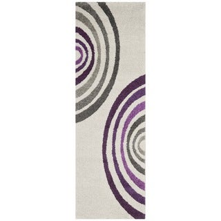 Safavieh Porcello Contemporary Cream/ Purple Runner Rug (2'4 x 6'7)