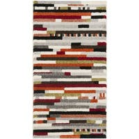 Safavieh Porcello Abstract Stripes Ivory/ Multi Rug - 2'7 x 5'