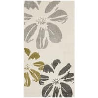 Safavieh Porcello Contemporary Floral Ivory/ Grey Rug - 2' x 3'7""