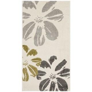Safavieh Porcello Contemporary Floral Ivory/ Grey Rug (2'7 x 5')