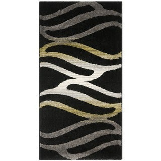 Safavieh Porcello Contemporary Wave Black/ Gold Rug (2'7 x 5')