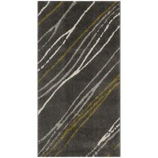 Safavieh Porcello Contemporary Stripe Dark Grey Rug (2' x 3'7)