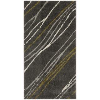Safavieh Porcello Abstract Stripe Dark Grey/ Multi Rug (2'7 x 5')