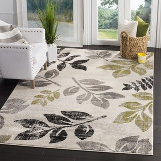 Safavieh Porcello Leaf Print Distressed Ivory/ Gold Rug (2'7 x 5')
