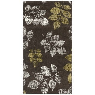 Safavieh Porcello Leaf Print Brown/ Green Rug (2' x 3' 7)