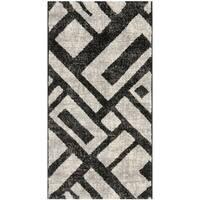 Safavieh Porcello Modern Geometric Black/ Grey Rug - 2' x 3'7