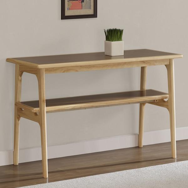 Mid Century Sofa Table: Shop Mid-century Natural Two-tone Sofa Table