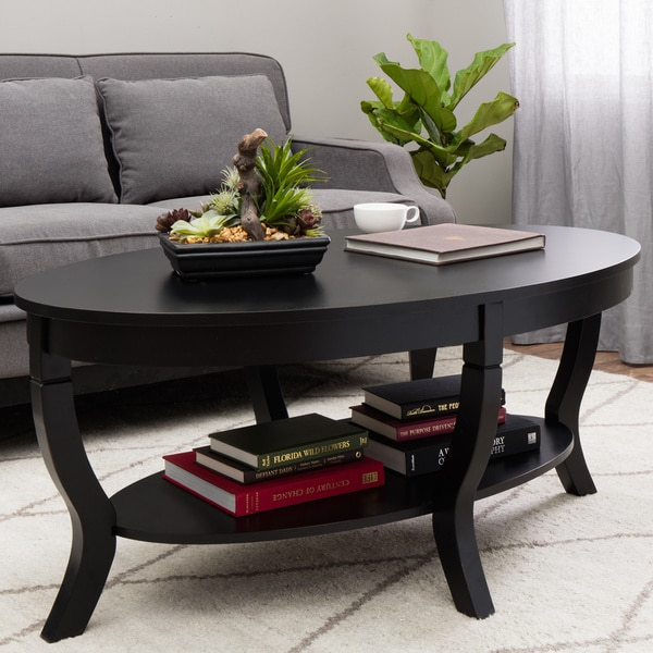 Stones Stripes Lewis Distressed Black Coffee Table