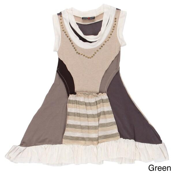 Sweetheart Jane Girls' Mixed-matched Patch Dress