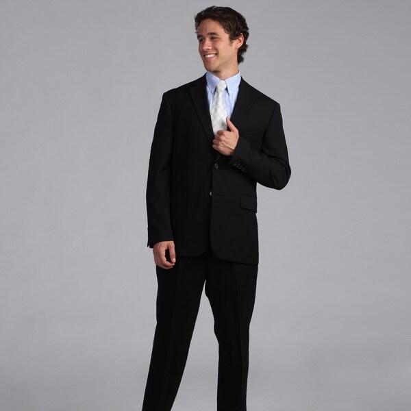 Nautica Men's Black Herringbone 2-piece Suit