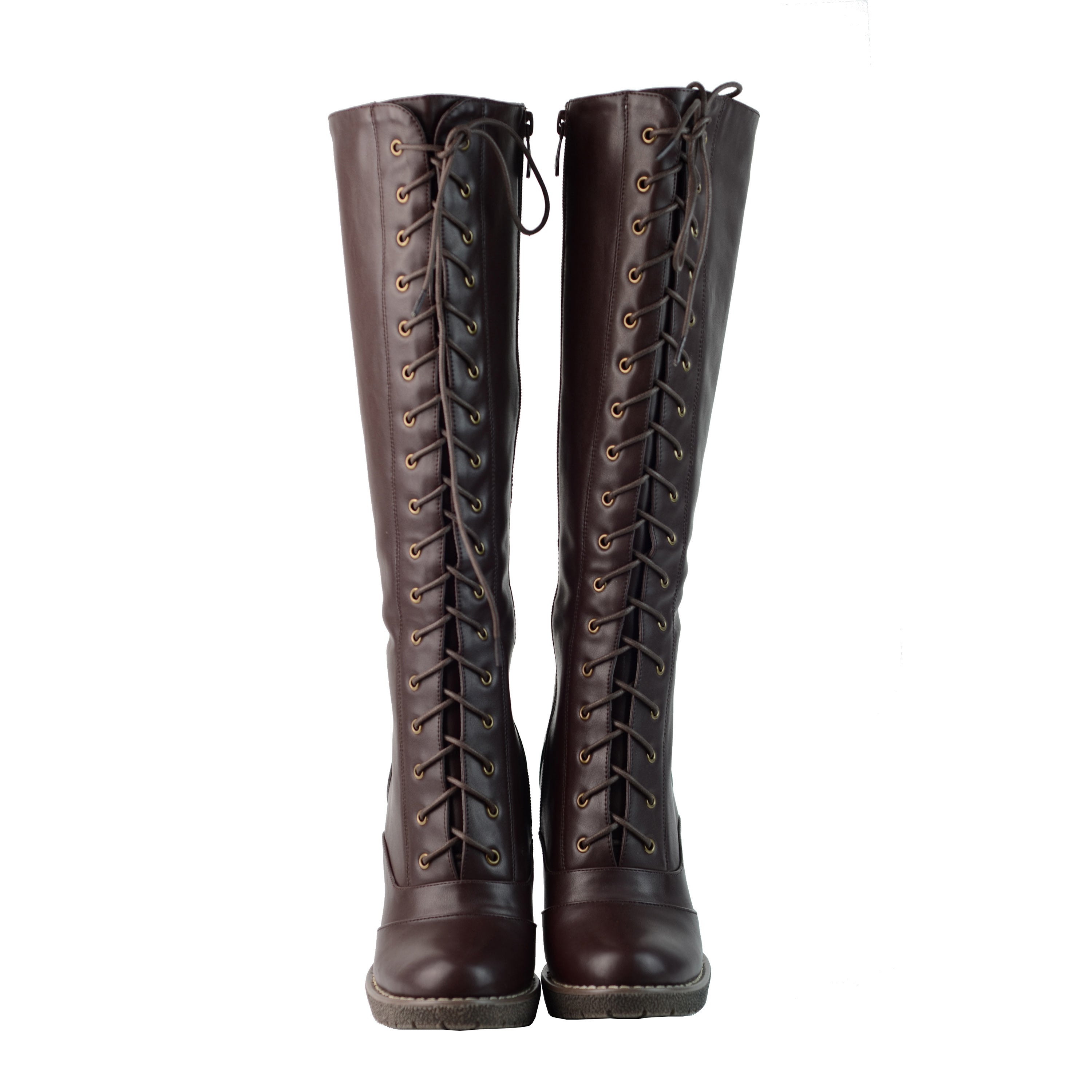 Darla' Lace-up Riding Boots - Overstock