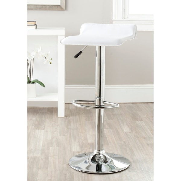 "Safavieh Sheba White Adjustable 22-31-inch Swivel Bar Stool - 15.2"" x 15.2"" x 25.2"""